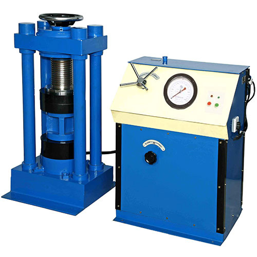 Compression Testing Machine (Four Pillar Type Load Frame) Hand cum Electrical Operated