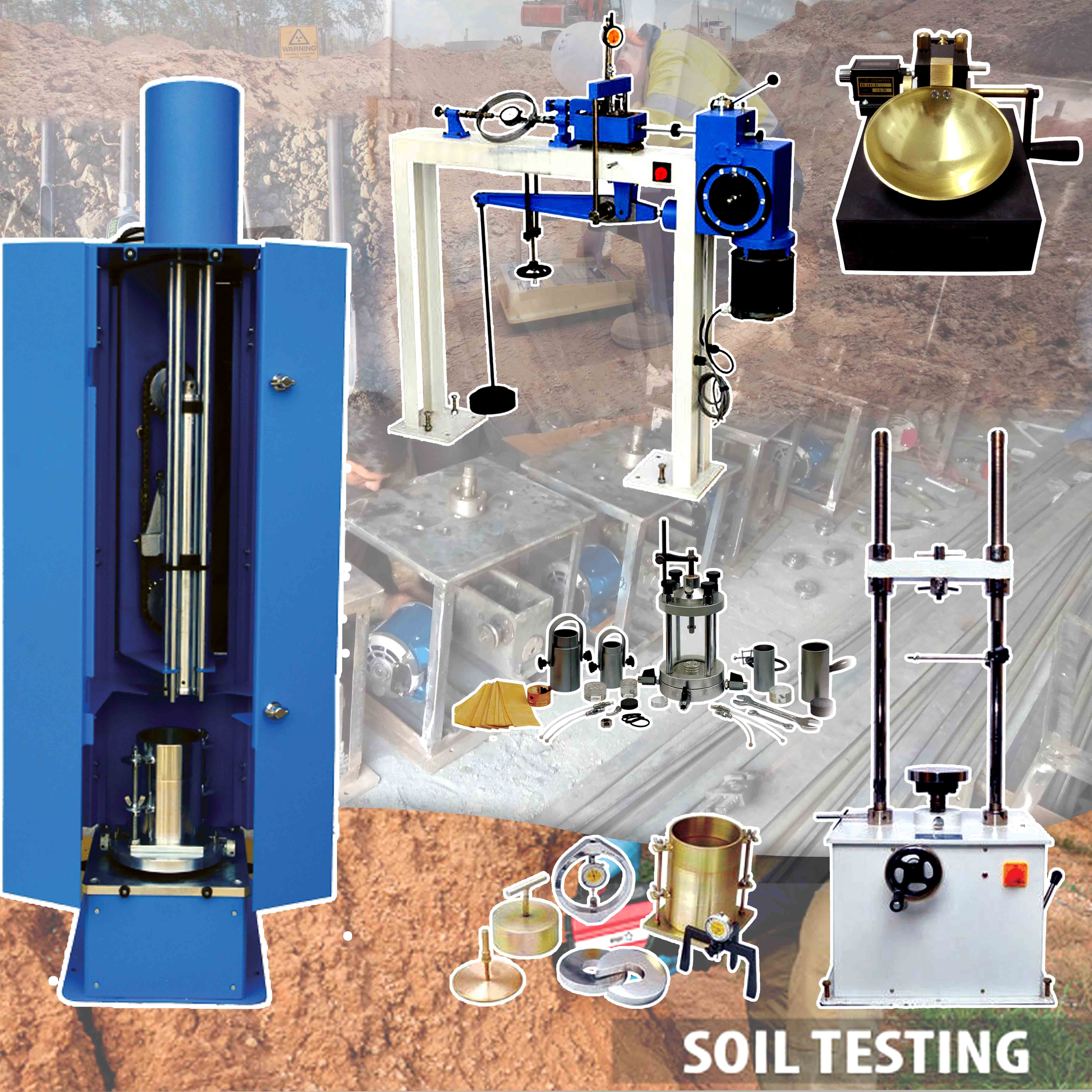 geotechnical testing lab equipment  manufacturer